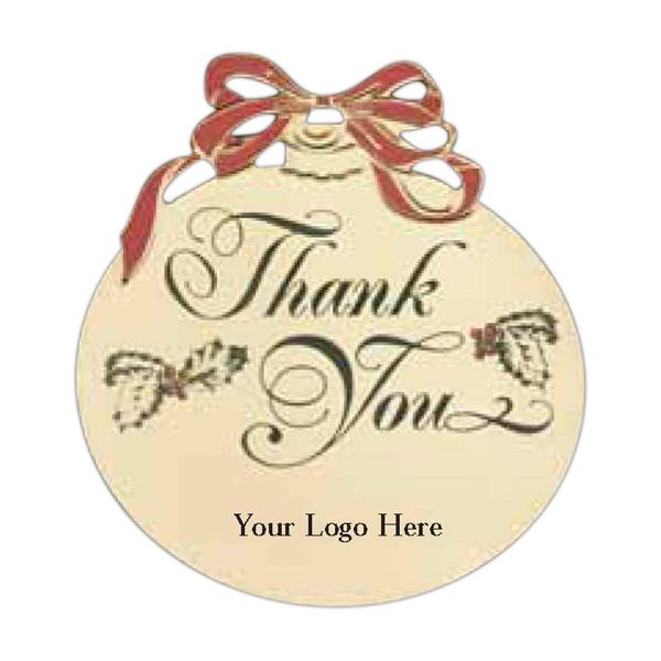 Company Logo Christmas Ornaments: Custom Logo Christmas Ball Holiday Ornament With Thank You