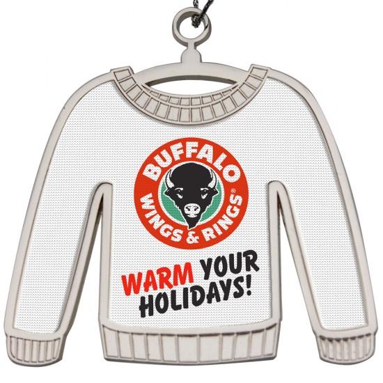 Custom Logo Shiny Nickel Finish Ugly Sweater