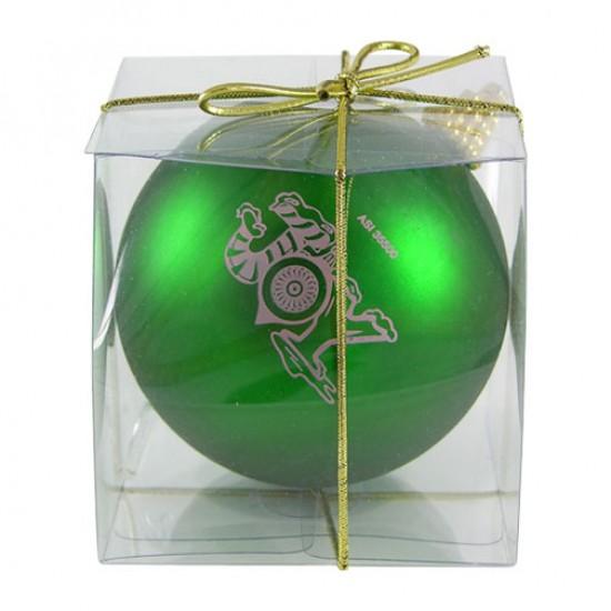 "Custom Logo 4"" Round Ornament"