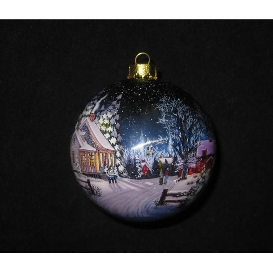 """Custom Logo 3"""" Ball Glass Ornament - Fine Art Artwork"""
